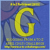 "A to Z Challenge ""G"" Badge"