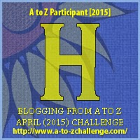"A to Z 2015 Challenge Badge ""H"""