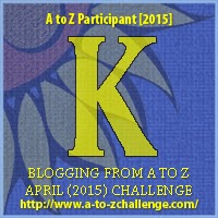 A to Z Challenge Badge 'K'
